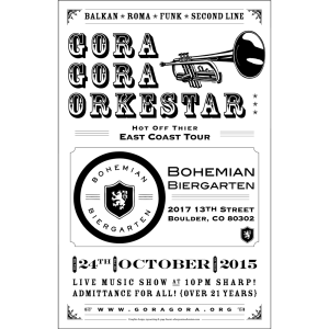 Gora Gora Orkestar - Show Poster