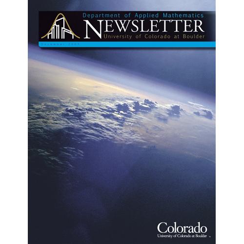 University Of Colorado - Department Of Applied Mathematics - Newsletter