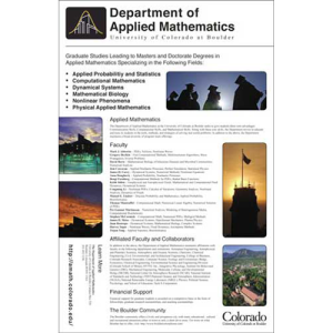 University Of Colorado - Department Of Applied Mathematics - Recruitment Poster