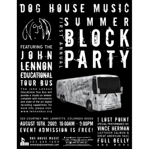 Dog House Music - Event Poster