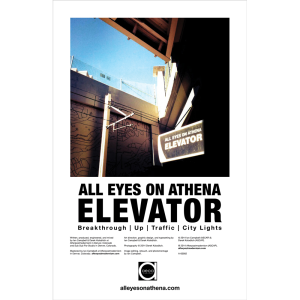 All Eyes On Athena - Elevator (Poster)